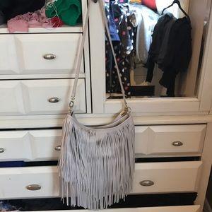 Cream long satchel